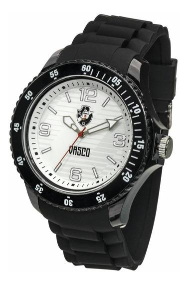 Relógio Oficial Do Vasco Escudo - Preto + Chaveiro De Brinde