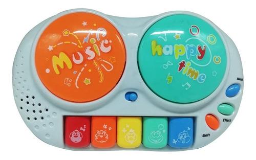 Juguete Didáctico Órgano 2 Tambores Teclado Luz Y Sonido LG