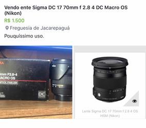 Lente Sigma Dc 17 70mm F 2.8 4 Os Hsm (nikon)