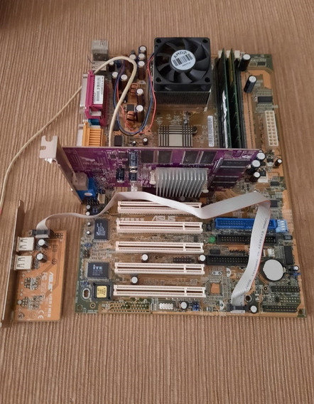 Placa Mae Asus A7s333+proc. Amd Athlon Xp 1700+placa Vídeo