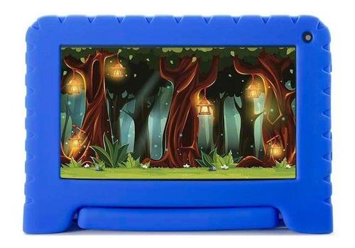 """Tablet com capa Mirage 45T Kids 7"""" 16GB azul com memória RAM 1GB"""