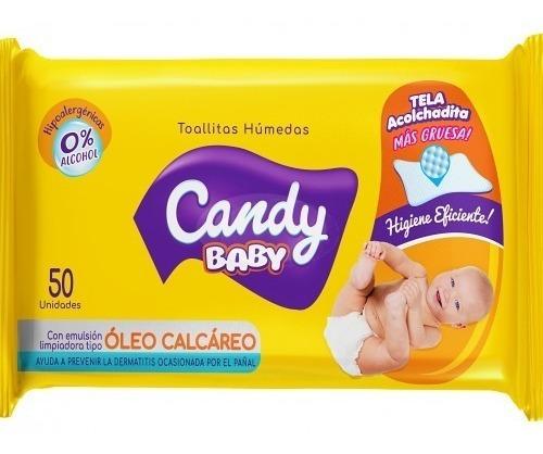 Toallitas Humedas Oleo Calcareo Candy Baby 50 Uni X 24 Paq.
