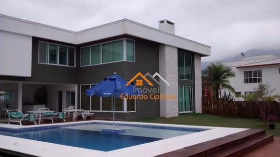 Casa Em Condomínio De Alto Padrão Com 4 Dormitórios À Venda, 289 M² Por R$ 2.300.000 - Massaguaçu - Caraguatatuba/sp - Ca0119