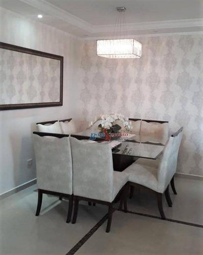 Apartamento Com 3 Dormitórios À Venda, 130 M² Por R$ 1.100.000,00 - Vila Invernada - São Paulo/sp - Ap0932