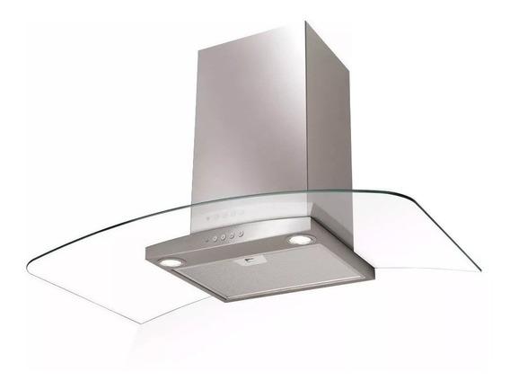 Extractor purificador cocina Spar Ray ac. inox. y vidrio de pared 898mm x 46mm x 470mm plateado 220V