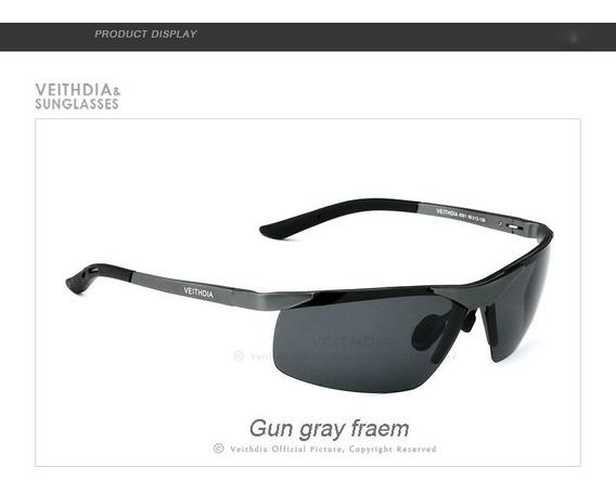Óculos De Sol Polarizado Proteção Uv Original Veithdia 6501