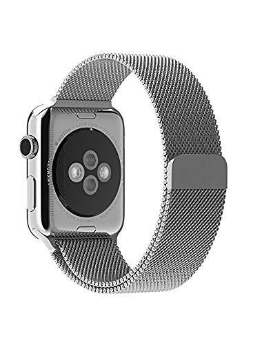 Correa De Acero Inóxidable Para Apple Watch Plateada