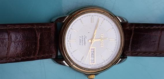 Relógio Tissot Seastar Automático Aço E Ouro.