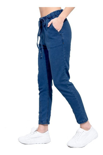 Jean Pantalon Mujer Jogger Babucha Elastizado