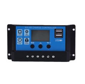 Controlador Carga Painel Solar 30a Usb 12/24v Pwm