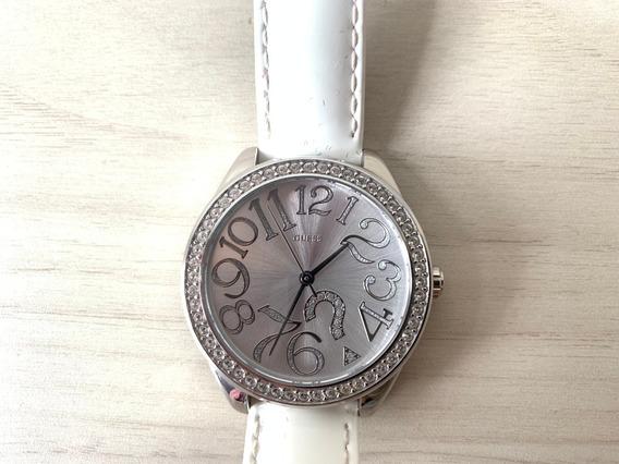 Relógio Guess Feminino Branco Brilhante Original