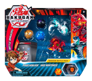 Bakugan Battle Pack Pyrus Howlkor Y Haos Mantonoid Original