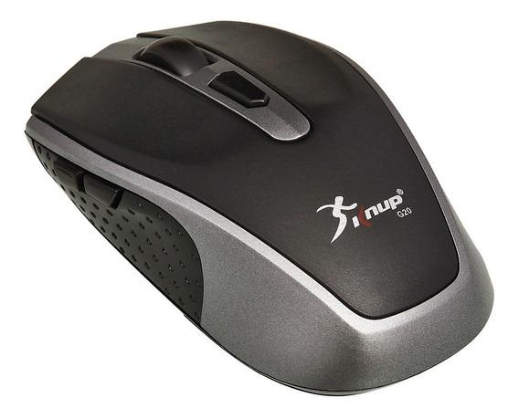 Mouse Sem Fio 5 Botões 1600dpi Vermelho E Preto Rf 2,4ghz
