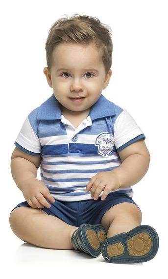 Conjunto Bebê Algodão Masculino Qualidade Elian Camisa Polo