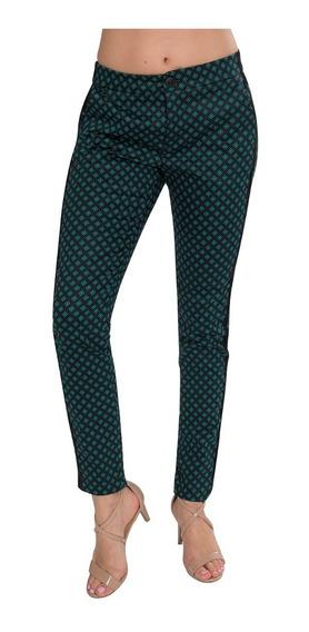 Pantalon Dama Ajustados Leggins Estampados Moda Verde W84101