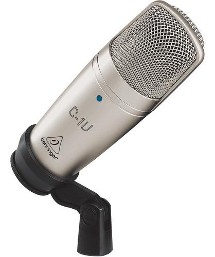 Imagen 1 de 3 de Microfono De Condensador Usb Estudio Behringer C-1u