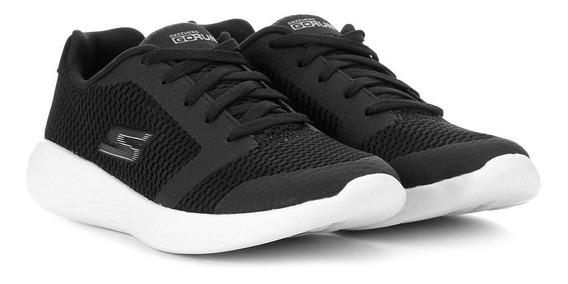 Tenis Skechers Infantil Go Run 600 Blk 9786611 Preto/branco