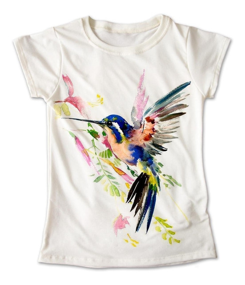 Blusa Colibrí Colores Playera Estampado Ave Animal 019