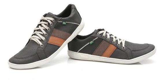 Sapatenis Sapato Tenis 100% Couro Ecológico Masculino Casual