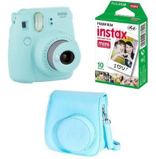 Cámara Fujifilm Instax Mini 9 Selfie + 10 Fotos + Funda