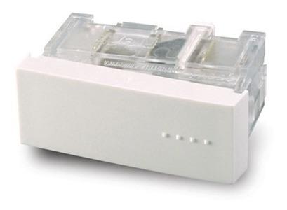 Módulo Combinación, Tecla Simple, Bauhaus - Blanca