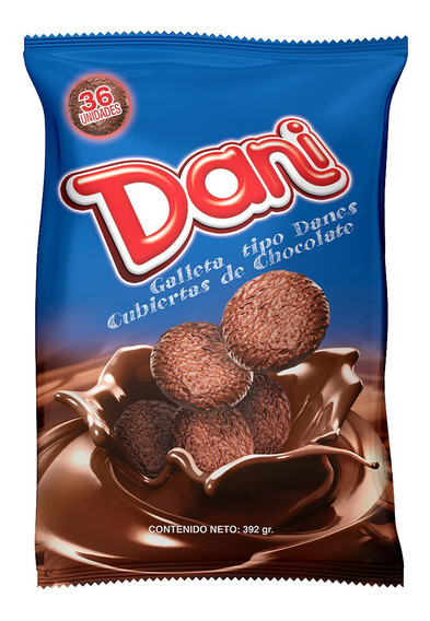 Bolsa Mostrador 392g Galletas Dani De Chocolate Por Bulto