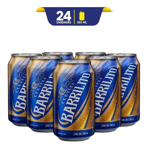 Cerveza Clara Barrilito , 24 Latas De 355ml C/u