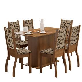 Mesa De Jantar 6 Lugares Greice Rustic/bege - Madesa Móveis
