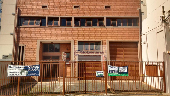 Barracão Para Alugar, 877 M² Por R$ 10.200,00/mês - Centro - Campinas/sp - Ba0655
