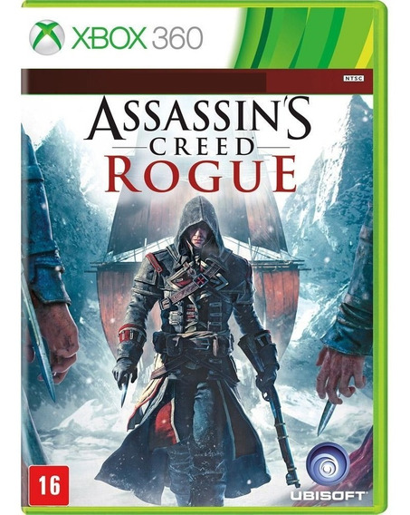 Jogo Assassins Creed Rogue Xbox360 Midia Fisica Original