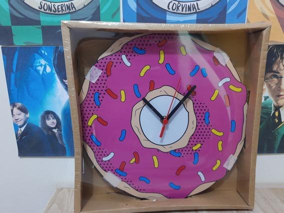 Relógio De Parede Donut (homer Simpson)
