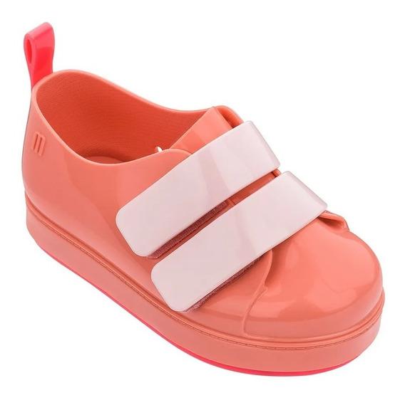 Tênis Mini Melissa Go Sneaker Rosa Neon Infantil 32696