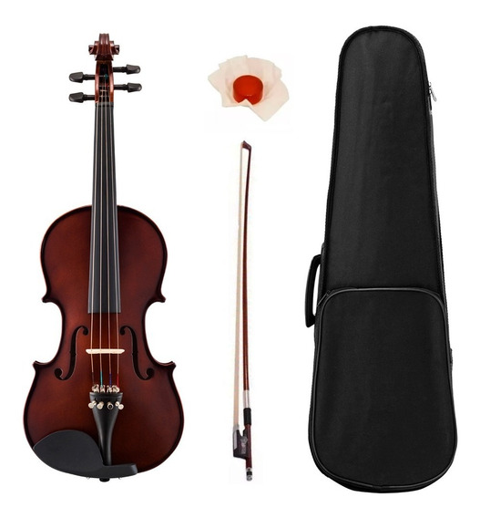 Violin Stradella Mv1411 De Medida Con Estuche Semi Rigido Arco Resina Ideal Para Estudio Pino Maple