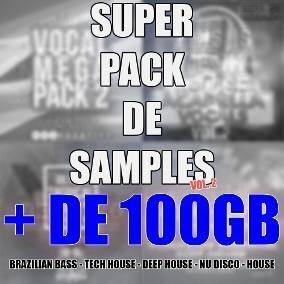 Super Pacote De Samples 2 (br Bass, Tech&deep House)(+100gb)