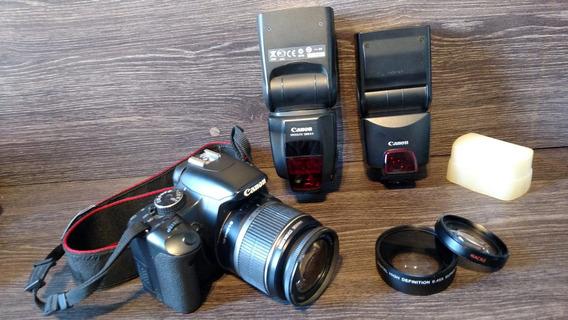 Canon Xsi Completa + Flashs Canon Speedlite 380ex E 580ex Ii