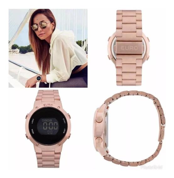Relógio Euro Digital Rose Gold Eubj3279af/4j Sabrina Sato