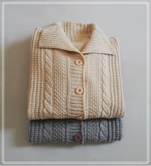Saco De Lana - Sweater Sacón Pullover Talle Grande Xxl