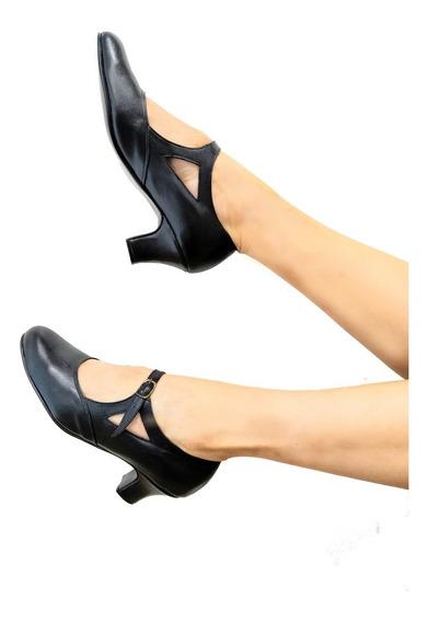 Zapatos De Danza Español Y Folklore En Cuero