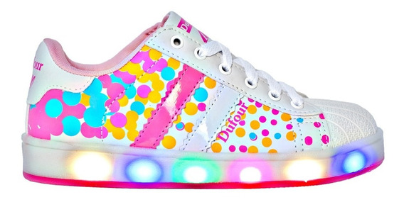 Zapatilla Luces Led Num 26-35 Dufour Art 3568
