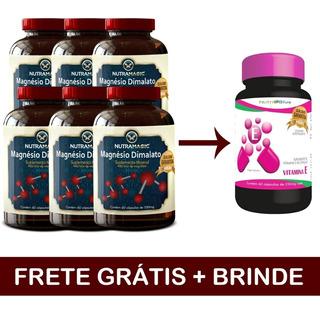 6 Magnesio Dimalato - Promoção - Frete Grátis - Brinde Vite