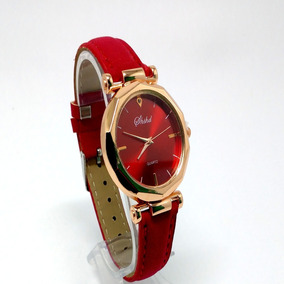 Relógio Feminino Vintage Rose Pulseira Couro Barato