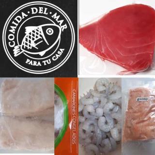 Mix De 4 Kg Salmon Atun Rojo Camarones Merluza Congelados