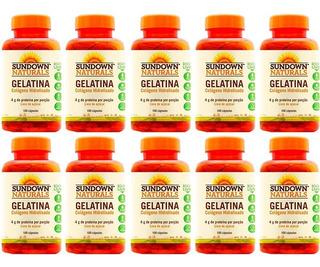 Gelatina Colágeno Hidrolisado - 10x 100 Cápsulas - Sundown