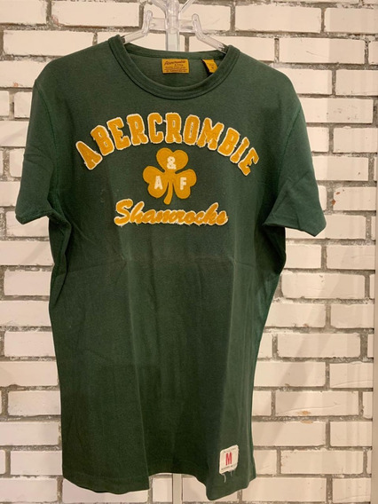 Camiseta Abercrombie & Fitch Masculino Verde Com Bordado