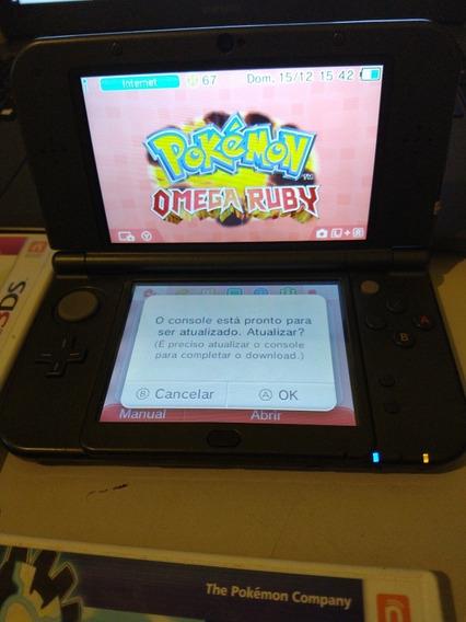 New Nintendo 3ds Xl, 3 Jogos, Com Pokémon Oras E Brunswick