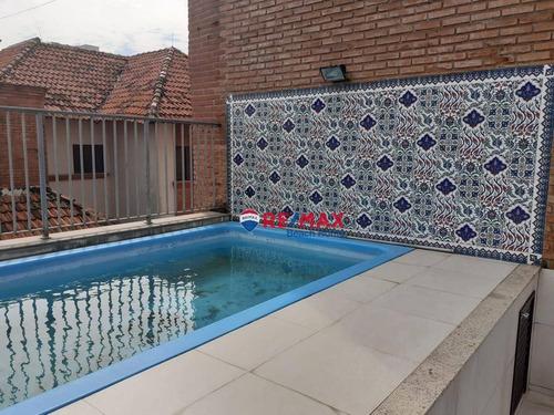 Imagem 1 de 30 de Cobertura Com 6 Dormitórios À Venda, 230 M² Por R$ 950.000,00 - Praia Da Enseada - Guarujá/sp - Co0186