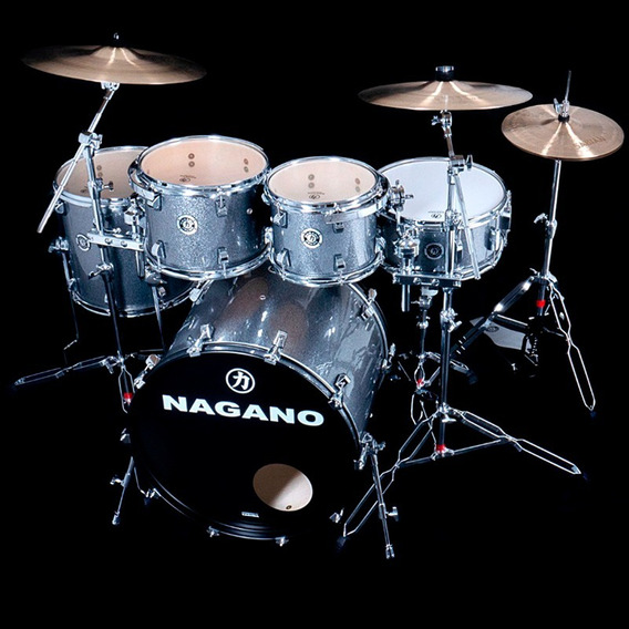 Bateria Nagano Concert Traditional Iron Sparkle Bumbo 20