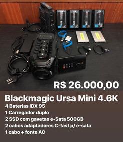Camera Blackmagic Ursa Mini 4.6k (aceito Troca)