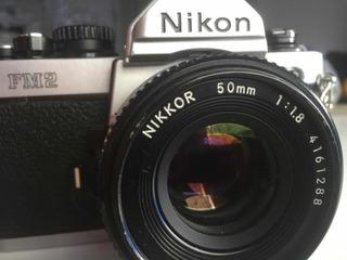 Camara Nikon Fm2 / Lente 50mm 1 1.8 Manual