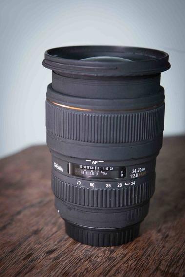 Lente Sigma 24-70mm 2.8 Ful Frame P/ Nikon